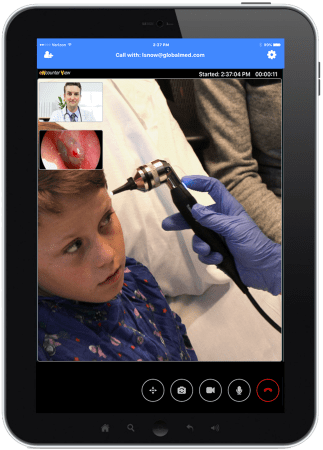 eNcounterView allowing users to facilitate remote telehealth consultations.